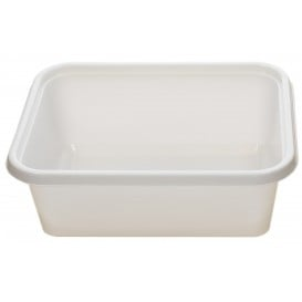 Bandeja Plastico PS Branco 157x112x51mm 500ml (100 Uds)
