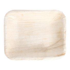 Bandeja retangular de folha de palmeira 16x12,5x3cm (25 Unidades)