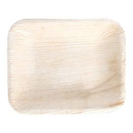 Bandeja retangular de folha de palmeira 16x12,5x3cm (200 Unidades)