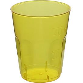 "Copo Plastico Shot ""Diamant"" PS Amarelo Transp. Cristal 50ml (20 Uds)"