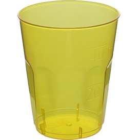 "Copo Plastico Shot ""Diamant"" PS Amarelo Transp. Cristal 50ml (600 Uds)"