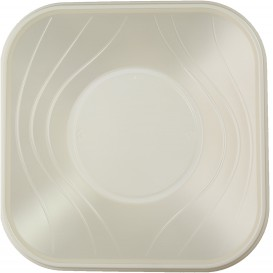 "Tigela Plastico PP ""X-Table"" Pérola 18x18cm (8 Uds)"