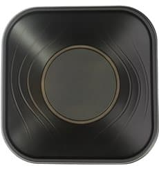 "Tigela Plastico PP ""X-Table"" Preto 18x18cm (8 Uds)"