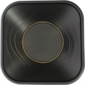 "Tigela Plastico PP ""X-Table"" Preto 18x18cm (120 Uds)"