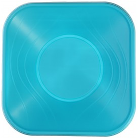 "Tigela Plastico PP ""X-Table"" Turquesa 18x18cm (8 Uds)"