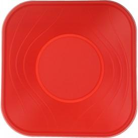 "Tigela Plastico PP ""X-Table"" Vermelho 18x18cm (8 Uds)"