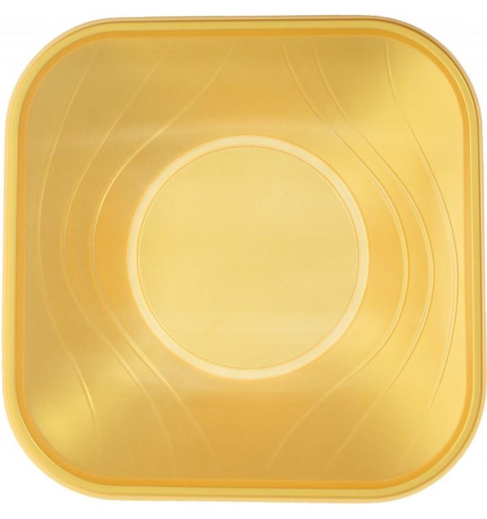 "Tigela Plastico PP ""X-Table"" Ouro 18x18cm (120 Uds)"