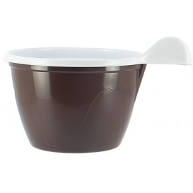 Chavena de Plastico PS Chocolate 100 ml (20 Unidades)