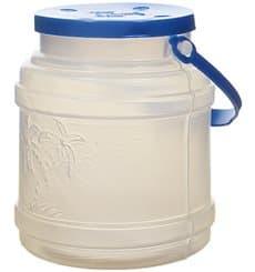 Garrafa com Tampa Cilíndrica Transp. Translúcido 500 ml (100 Uds)