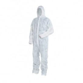 Fato de Proteção TST PP Com Capuz e Velcro Tamanho XXL (50 Uds)