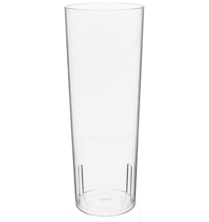 Copo Tubo Plastico Cristal PS 330ml (10 Uds)