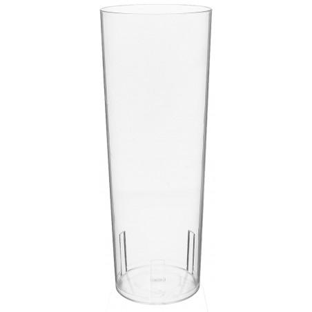 Copo Tubo Plastico Cristal PS 330ml (500 Uds)