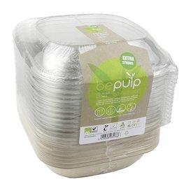Embalagem Cana-açúcar com tampa 750ml 190x190x80mm (15 Uds)