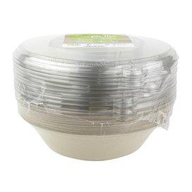 Tigela Cana-de-açúcar com tampa 1000ml Ø210x60mm (15 Uds)