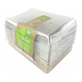 Bandejas Cana-de-açúcar com tampa 220x160x60mm (15 Uds)