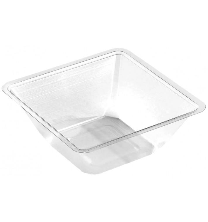 Tigela mini de Plastico PET Termosoldaveis 175ml 90x90x40mm (50 Uds)