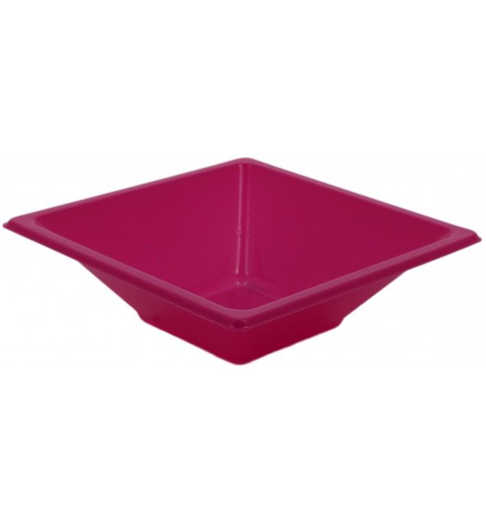 Tigela de Plastico PS Quadrada Fúcsia 12x12cm (720 Uds)