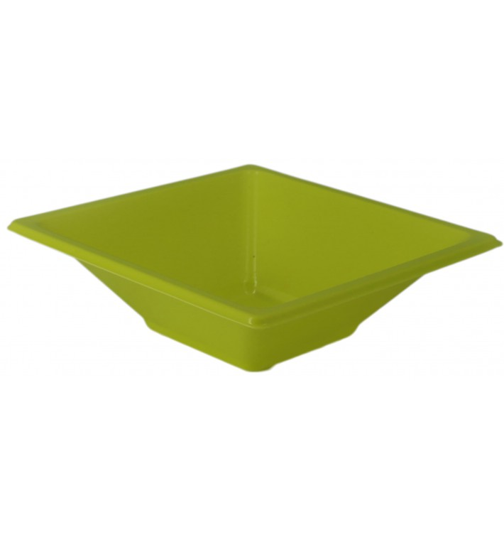 Tigela de Plastico PS Quadrada Pistache 12x12cm (12 Uds)