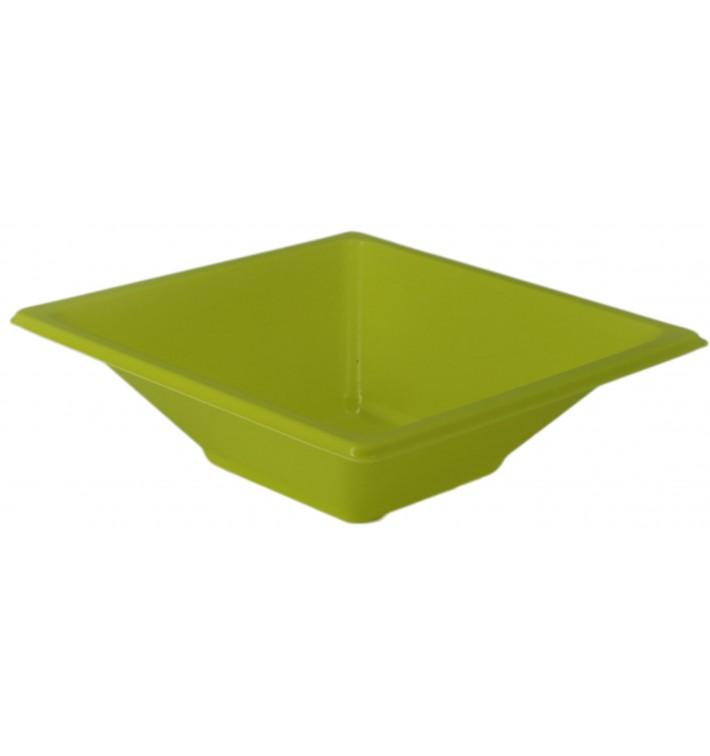Tigela de Plastico PS Quadrada Pistache 12x12cm (720 Uds)