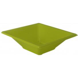 Tigela de Plastico PS Quadrada Pistache 12x12cm (25 Uds)