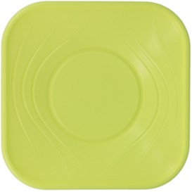 "Tigela Plastico PP ""X-Table"" Limão 18x18cm (120 Uds)"