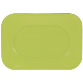 """Bandeja Plastico PP """"X-Table"""" Limão 330x230mm (2 Unidades)"""