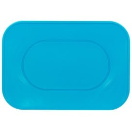 """Bandeja Plastico PP """"X-Table"""" Turquesa 330x230mm (2 Unidades)"""