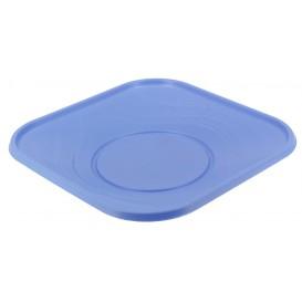 "Prato Plastico PP ""X-Table"" Quadrado Raso Violeta 230mm (8 Unidades)"
