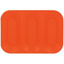 "Bandeja Plastico PP ""X-Table"" 3C Laranja 330x230mm (2 Unidades)"
