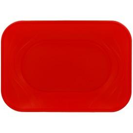 """Bandeja Plastico """"X-Table"""" Vermelho PP 330x230mm (2 Unidades)"""