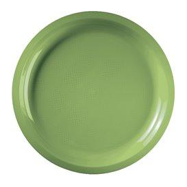 Prato de Plastico Verde Limão Round PP Ø290mm (300 Uds)