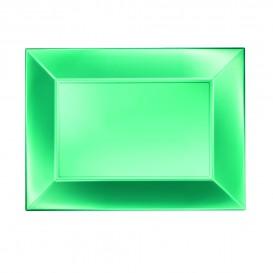 Bandeja de Plastico Verde Nice Pearl PP 280x190mm (12 Uds)