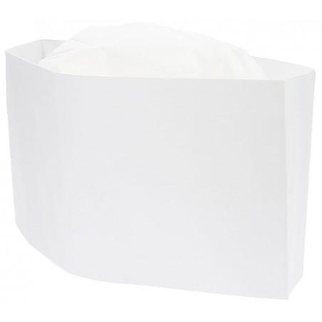 Touca Cozinheiro Barco Branco em Papel (100 Uds)