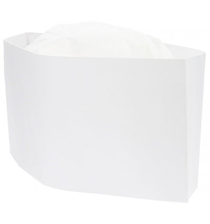 Touca Cozinheiro Barco Branco em Papel (1000 Uds)