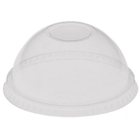 Tampa Plastico Cupula Sem Buraco 5oz/8oz/9oz (100 Uds)
