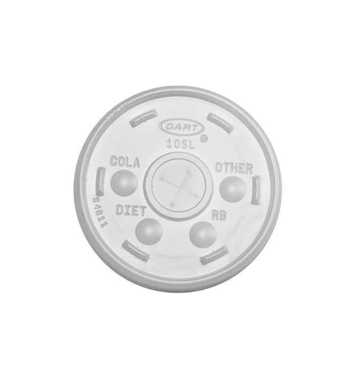 Tampa de Plastico Cruz para Copo Foam Ø9,4cm (100 Uds)