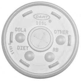 Tampa de Plastico Cruz para Copo Foam Ø9,4cm (1000 Uds)