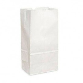 Saco de Papel Sem Asas Kraft Branco 18+11x34cm (500 Uds)