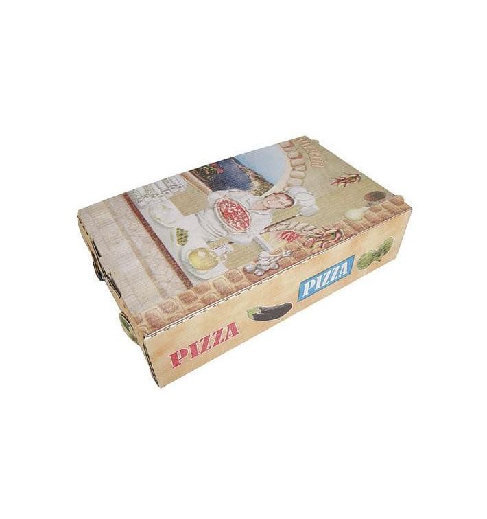 Caixa Cartão Pizza Calzone 27x16x70cm Vegetal (100 Uds)
