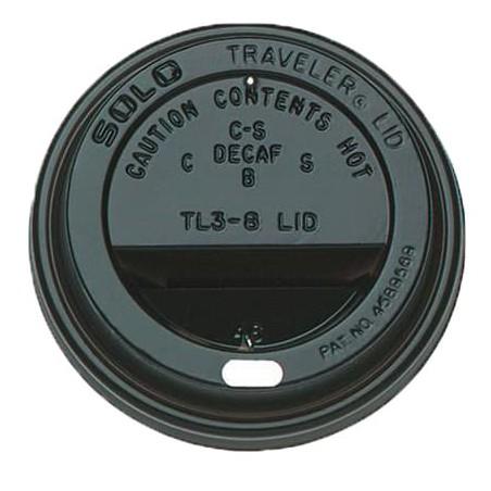 Tampa Perfurada Copo Preto 6 e 8Oz Ø7,9cm (100 Uds)