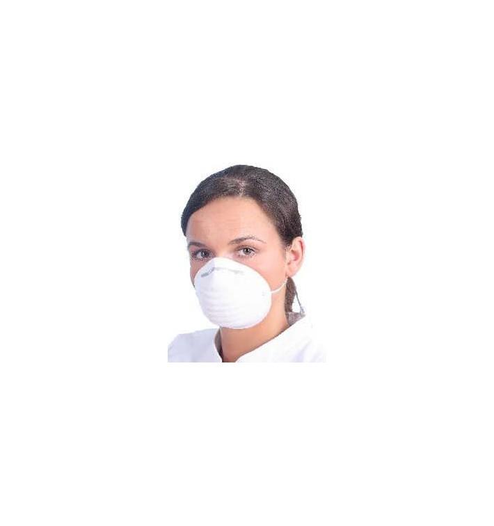 Máscara Tipo Concha em Polipropileno Branco (50 Uds)