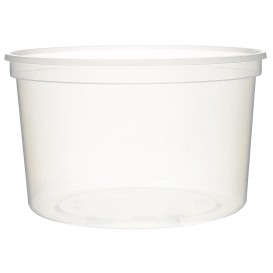 Embalagem Plastico Redondo Transp 500ml  Ø11,5cm (500 Uds)