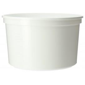 Embalagem Plastico Redondo Branco 500ml  Ø11,5cm (500 Uds)