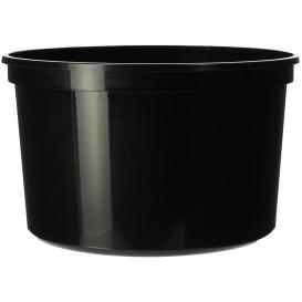Embalagens Redondo PP Preto 500ml (50 Unidades)