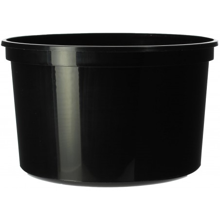 Embalagem Plastico Redondo Preto 500ml  Ø11,5cm (50 Uds)