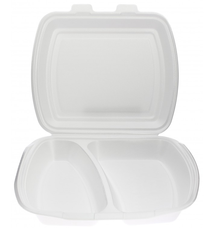 Embalagem Foam PortaMenus 2 Compartimiento (250 Uds)