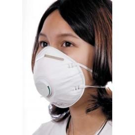 Máscara Concha com Válvula FFP2 Branco (10 Uds)