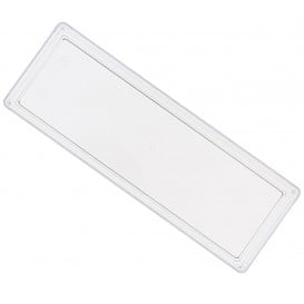 Bandeja de Plastico Retangular Transparente 4,6x13cm (500 Uds)