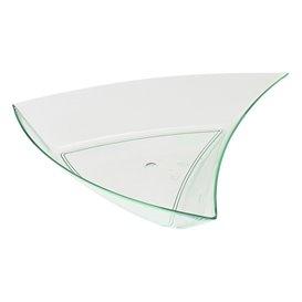 Molhera Degustação Triângulo  Verde transp. 6,3x6,3x1,5cm (12 Unidades)