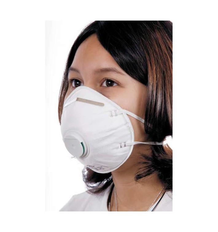 Máscara Concha com Válvula FFP2 Branco (200 Uds)